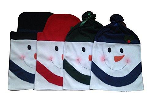 Christmas Snowman Chair Back Covers