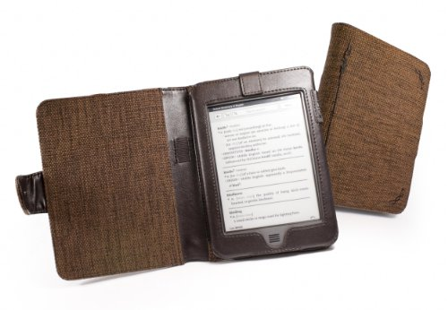 Tuff-Luv 4 Kindle Touch (Latest) Causa canapa (Mocha Brown)
