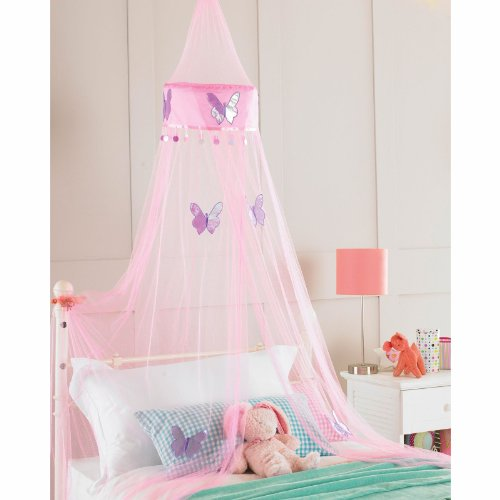 Betthimmel-Set-Mdchen-Bett-Schmetterling-Betthimmel-30cm-x-230cm-rosa