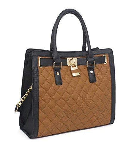 ladies-designer-quilted-fashion-handbag-tote-shopper-shoulder-bag-with-padlock-design