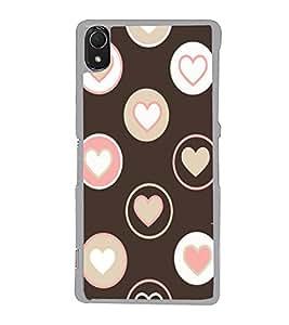 Hearts 2D Hard Polycarbonate Designer Back Case Cover for Sony Xperia Z3 :: Sony Xperia Z3 Dual :: Sony Xperia Z3 D6633