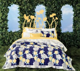Indigo Bouquet Comforter Set