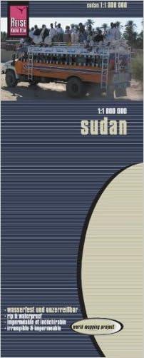 Sudan Travel Map. 1:1,800,000. Waterproof. (World Mapping Project)