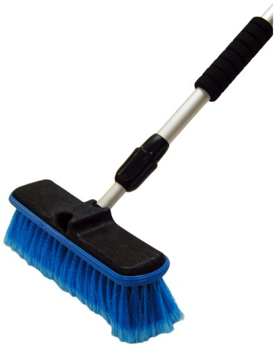 Detailer's Choice 4B369 Flow-Thru Vehicle Wash Brush with 60-Inch Telescoping Handle – 1-Each