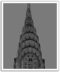 Jp london peel and stick removable wall decal sticker for Chrysler building mural