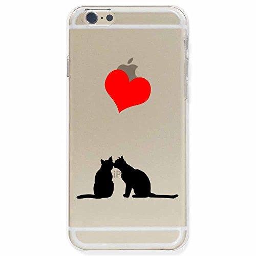 otas iPhone6 Plus カバー ハードケース ポリカーボネイト クリアケース 猫とキス 888-36826