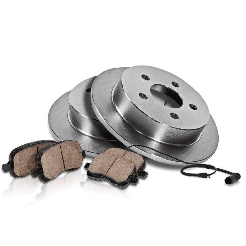 Front Rear Premium Posi Ceramic Disc Brake Pad Rotor /& Wear Sensor Kit for Mini