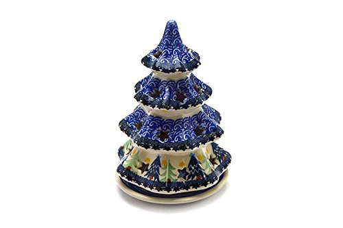 Polish Pottery Christmas Tree with Plate - 7