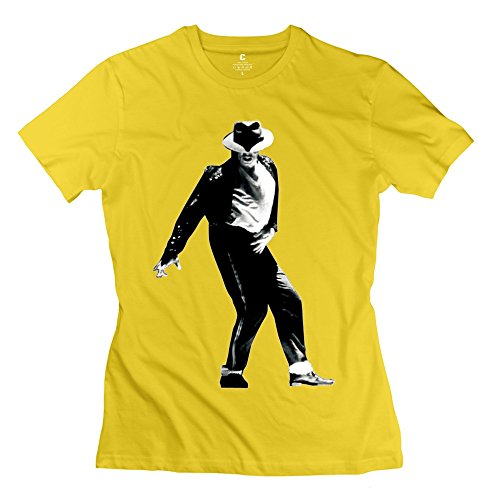 Fashion Michael Jackson - Customizable T-shirt For Women Yellow