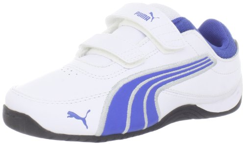 Puma Drift Cat 4 L V Sneaker (Infant/Toddler/Little Kid/Big Kid),White/Olympian Blue/Pumasilver,7 M US Toddler