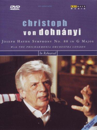 Christoph Von Dohnanyi In Rehearsal Haydn Symphony 88 [1998] [DVD] [2002]