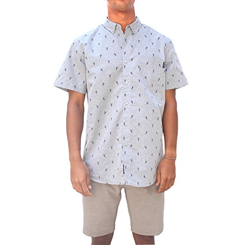 Molokai Mens Hawaiian Printed Button Down Shirt-Icecream-X-Large (Ice Cream T Shirt Men compare prices)