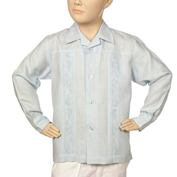 Irish linen long sleeve lt. Blue shirt for boys. Final sale