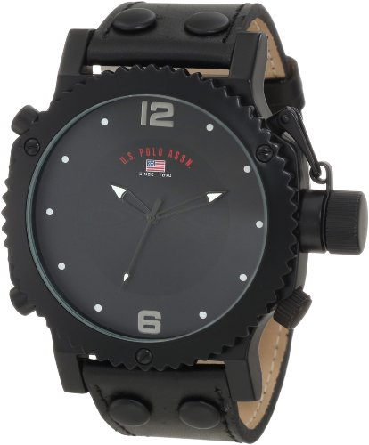 U.S. Polo Assn. Mens US5211 Black Analog Watch