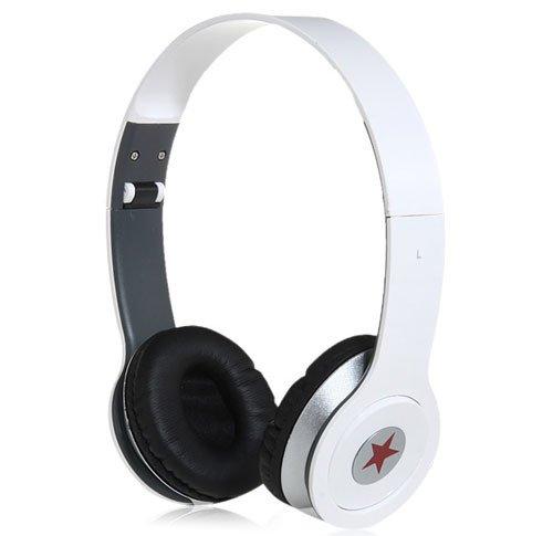 White Stereo Foldable 3.5Mm Jack Headset Headphone For Pc Mp3 Mp4 Psp