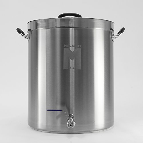 MegaPot 1.2 Stainless Steel Brew Kettle Pot - 15 Gallon w/ Ball Valve - 60 Quart (Brew Kettle 15 Gallon Stainless compare prices)