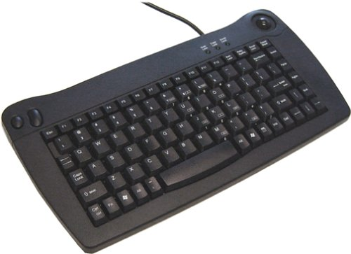 Ack-5010ub - Keyboard - Qwerty - Trackball - Cable - Usb - Black