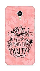 AMEZ do more of what makes you happy Back Cover For Meizum 2 Note