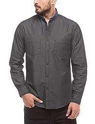 Prym Men's Casual Shirt (8907423015296_2011510701_Medium_Black)