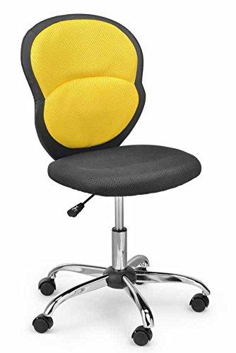 Kinder-Brostuhl-Drehstuhl-Schreibtischstuhl-Stuhl-Schreibtisch-NEU-Gelb-Schwarz