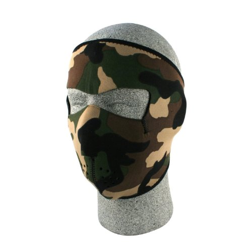 New ZANheadgear Neoprene Face Mask (Woodland Camouflage)