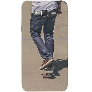 Casotec Skate Boarding Design Hard Back Case Cover for Samsung Galaxy J7