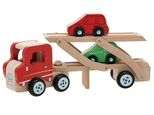 Teorema 40501 - Camion Trasporto Auto in Legno con 2 Macchinine Incluse