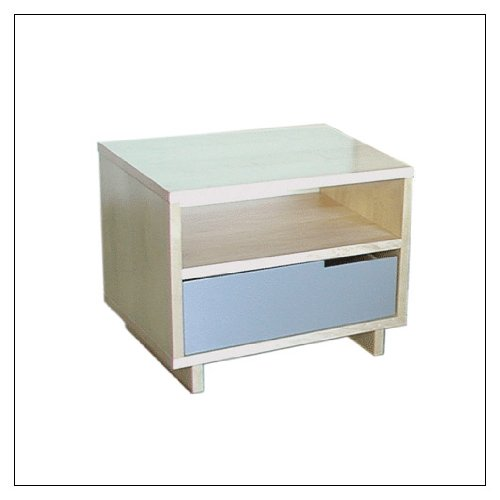 Blu Dot Modu-Licious Bedside Table By Blu Dot, Finish = Maple; Drawer Color = White