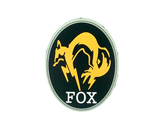 FOX Foxhound Nero Metal Gear Solid Patch PVC Toppa