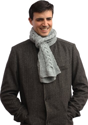 Handmade Alpaca Knitted by Artisan Scarf - French Gray
