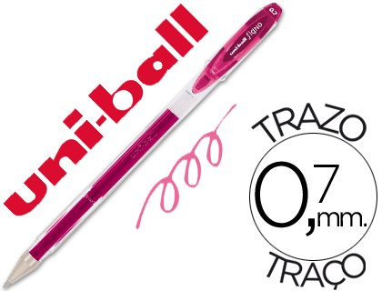 BOLIGRAFO UNI-BALL UM-120 SIGNO ROSA PASTEL 0,7 MM TINTA GEL UNIDAD (12 unid.)