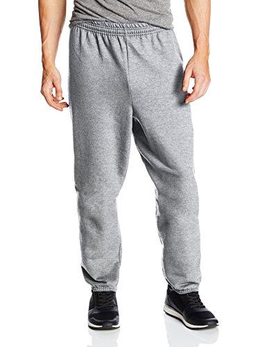 Hanes Men's EcoSmart Fleece Sweatpant, Light Steel, XX-Large (Pack of 2) (Men Plus Pants compare prices)