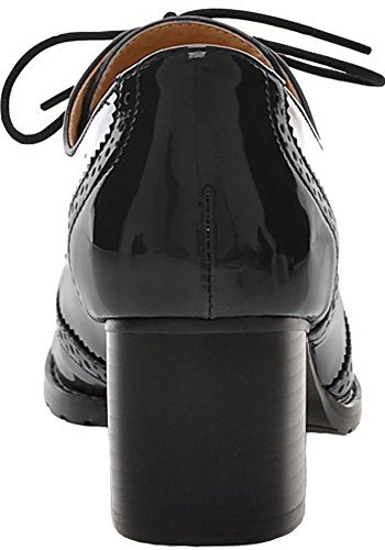 Women's Oxford Dress Pumps WGWJM-Patent Leather-Mid-heel-Hallowmas Shoes 3