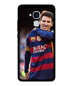 Chnno 2d messi Printed Back Cover For Huawei Honor 5C No- 1691