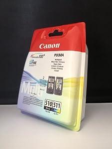 2 Original Druckerpatronen für Canon Pixma MP 270 (Black/Color)