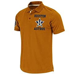 Houston Astros Cooperstown Majestic Amsterdam Vintage Polo Shirt by Majestic