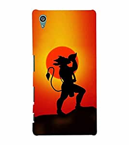 Lord Hanuman 3D Hard Polycarbonate Designer Back Case Cover for Sony Xperia Z5 :: Sony Xperia Z5 Dual (5.2 Inches)