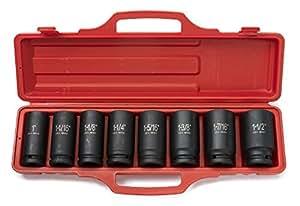 Neiko® 02461A 3/4-inch Deep Impact SAE Sockets, 1 - 11/2-inch | 8-Piece Cr-V Steel Set