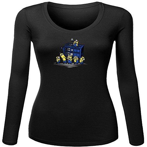 Funny Minion Mischief Tardis For Ladies Womens Long Sleeves Outlet