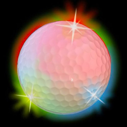 Disco Flashing Led Electronic Golf Balls 3-Pack ~ Lights Up Red Green Blue Purple