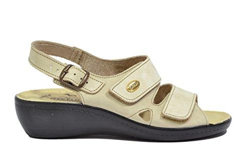 Fly Flot Sandali scarpe donna beige anatomiche anti-shock 90F2237PNE 38