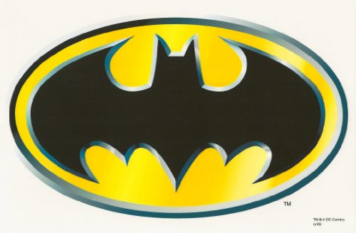Batman Logo Edible Image Cake Topper