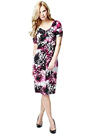 Drop a Dress Size Floral Print Dress with Secret Support™