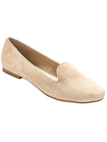 Balsamik - Mocassini slippers in pelle scamosciata larghezza comfort - - Size : 41 - Colour : Beige