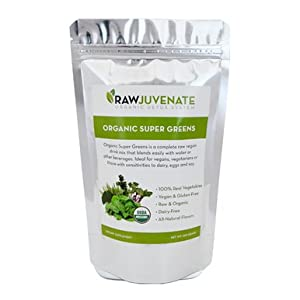 Raw Green Organics Rawjuvenate Vegan Organic Super Greens Supplement, 1 Pound