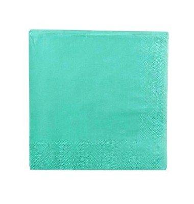 20 Servietten aus Papier, grün/türkis
