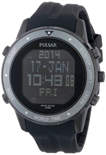 Pulsar Sport Digital Black Dial Men's Watch #PQ2019