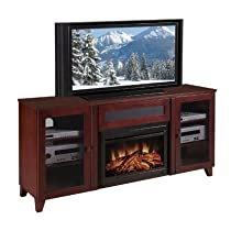 "Hot Sale 70"" Shaker-Style TV Media Console (Dark Cherry) (33.90H x 70.00W x 17.70D)"