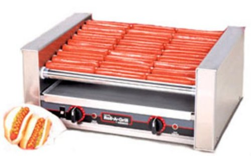 Nemco 8036S-Slt 36 Hot Dog Roller Grill With Silverstone
