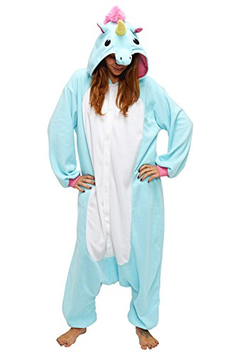 Adult-Unisex-Unicorn-Animal-Kigurumi-Onesies-Pajamas-Cosplay-Birthday-Party-Wear